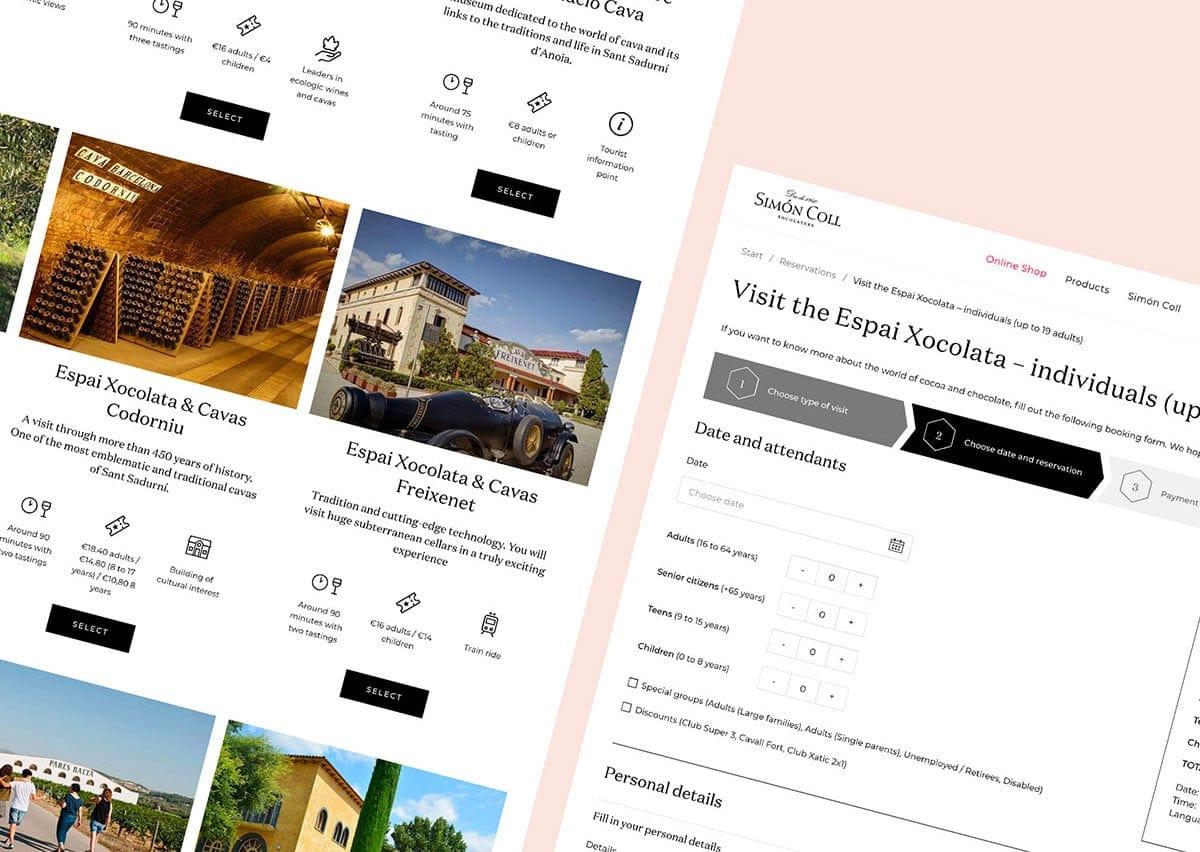 Simón Coll website bookings