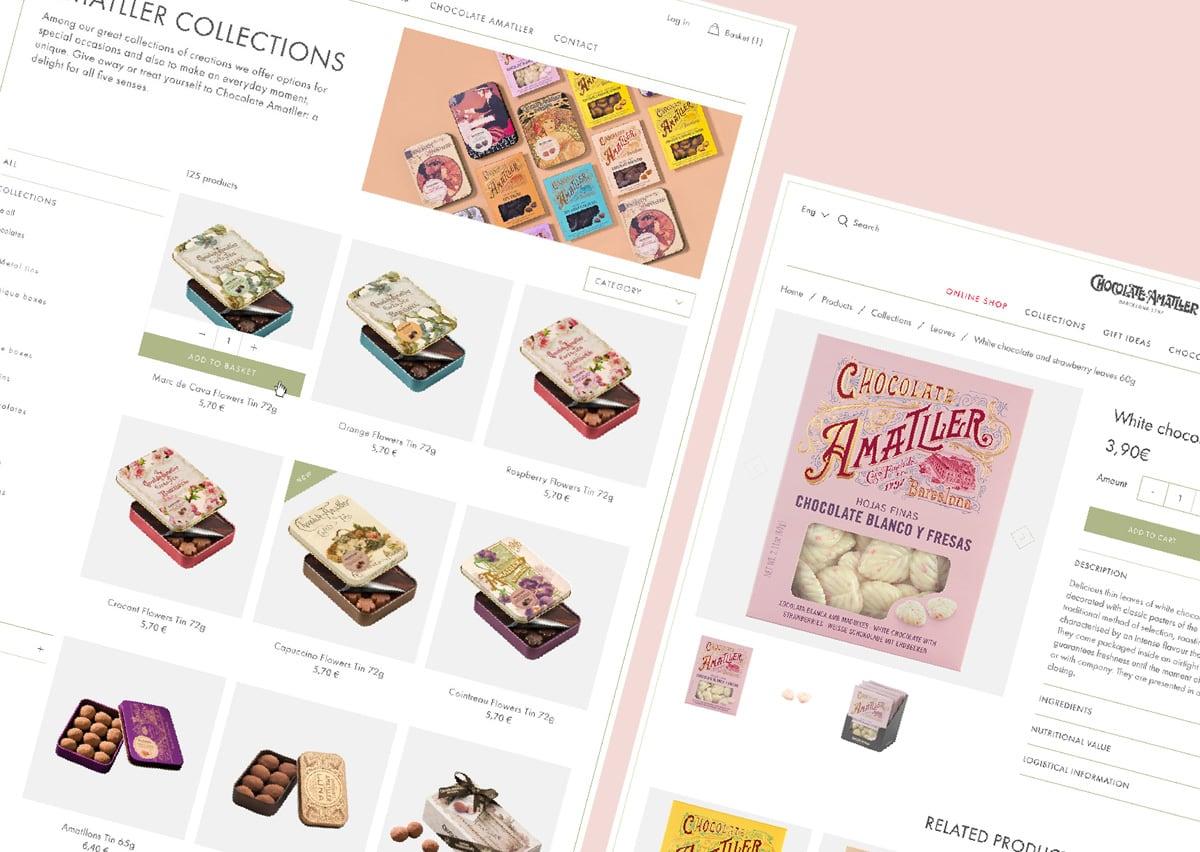 Chocolate Amatller Webiste